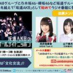 【出演】今夜1時~「坂道AKBのオールナイトニッポン!」出演は向井地美音、山下美月、長濱ねる!