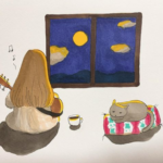【元乃木坂46】まいまい、お休み前のらくがき(*´∀`*)